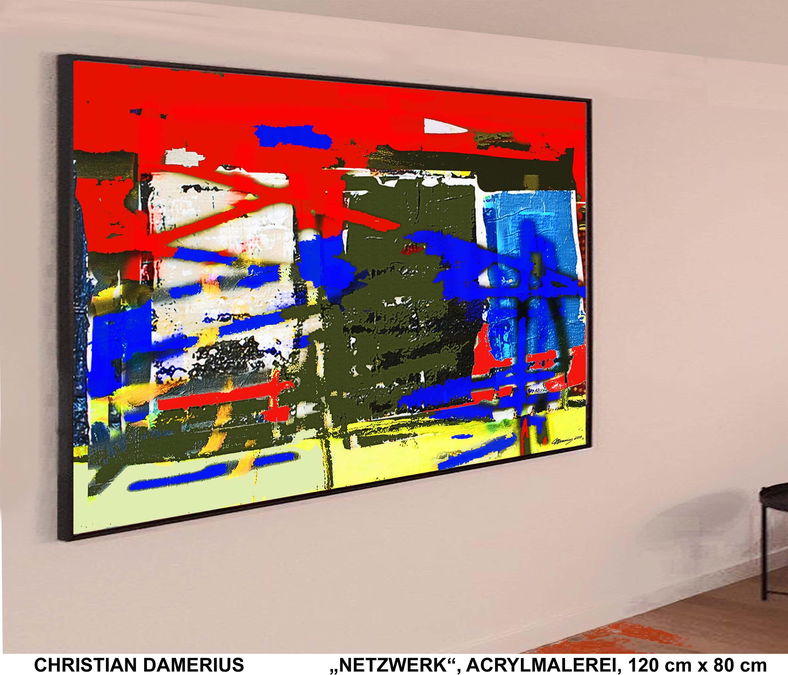 netzwerk,christian damerius,moderne deutsche malerei,kunst,abstrakte malerei,abstraktion,Beispiele Wand- und Raumgestaltung mit bildern,HAMBURGER AUFTRAGSMALEREI, AUFTRAGSBILDER IN HAMBURG BESTELLEN,AUFTRAGSKUNST IN GELB,BLAU,GRÜN,ROT,WEISS,SCHWARZ,KUNSTDRUCK DAMERIUS,HAMBURG, MODERNE LANDSCHAFTSMALEREI,bilder,gemälde,kunstdrucke für wohnzimmer,büros,arbeitsplätze,gerahmte kunstdrucke,gemälde,