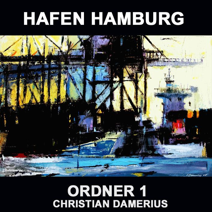 1.hafen-hamburg-1,HAMBURGER HAFEN,moderne deutsche gemälde,kunstdrucke,hafengemälde,bekannte moderne deutsche maler,