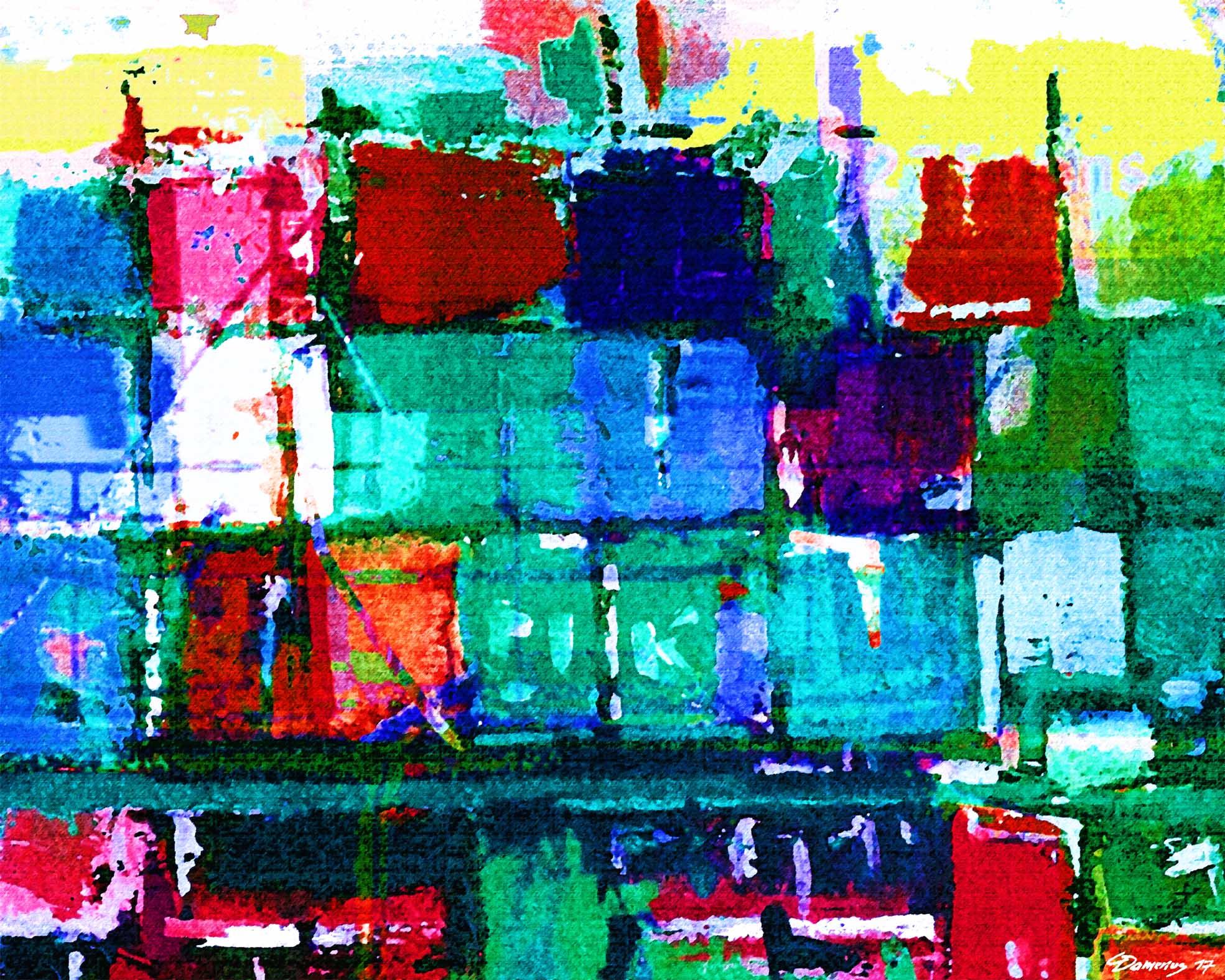 damerius,HAMBURG IM CONTAINERHAFEN 3,kunstdrucke hamburger hafen,kunstdrucke hamburg motive,hafenbilder hamburg,kunstdrucke für büroräume,moderne hamburger auftragsmaler,bekannte hamburger maler,